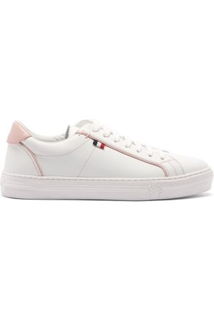 Moncler Dames Sneakers - Alodie Leather Trainers - Womens - Pink White