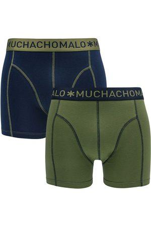Muchachomalo Boxershorts 2-pack groen && blauw IV