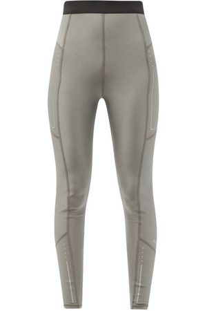 Moncler Reflective High-rise Leggings - Womens - Silver