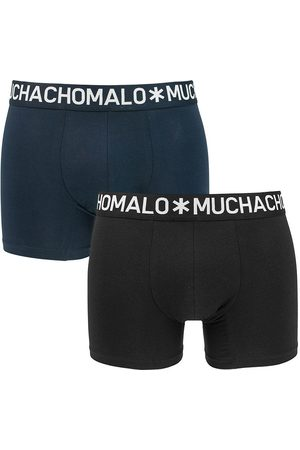 Muchachomalo Boxershorts light cotton 2-pack zwart && blauw