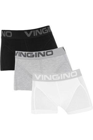 Vingino Boxershorts jongens 3-pack zwart / grijs / wit