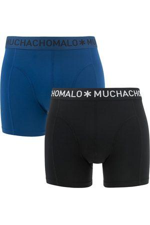 Muchachomalo Boxershorts microfiber 2-pack zwart && blauw