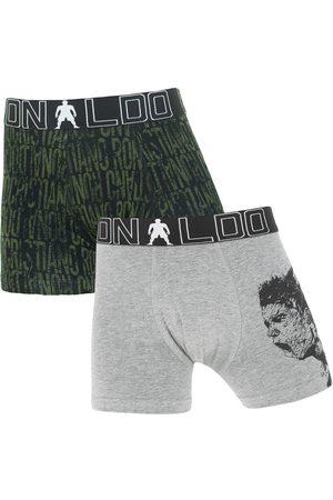 CR7 Boxershorts jongens 2-pack print zwart && grijs