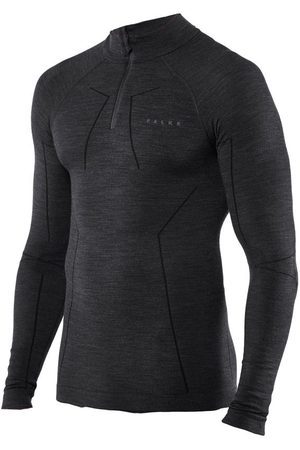 Falke Heren Lange mouw - Technisch wool-tech rits O-hals long sleeve
