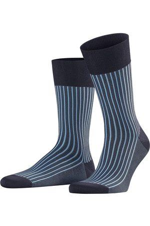 Falke Oxford stripe lichtblauw / donkerblauw