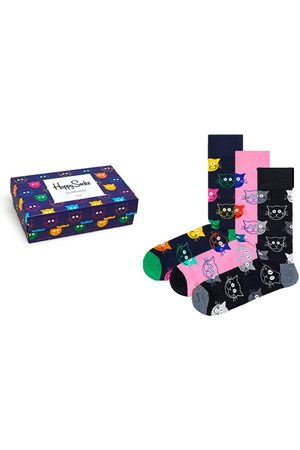Happy Socks Mixed cat giftbox 3-pack