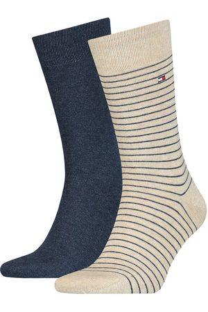 Tommy Hilfiger Small stripe 2-pack blauw & beige II