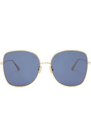 Dior Stellaire Square Metal Sunglasses - Womens - Blue Gold