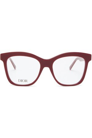 Dior 30montaignemini Butterfly Acetate Glasses - Womens - Red