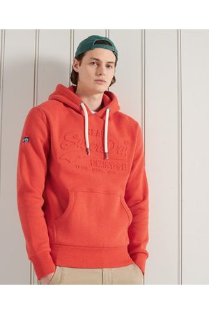 Superdry Heren Truien - Vintage Logo hoodie met reliëf