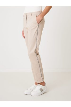 Repeat Dames stretch chino met metallic strepen