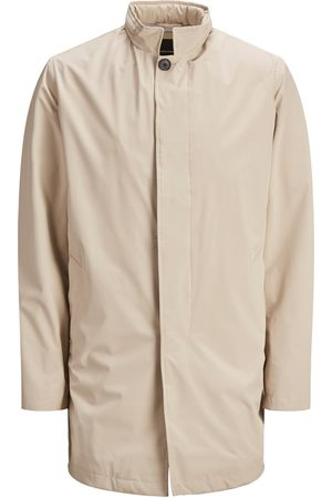 jack & jones Verborgen Capuchon Mac Lange Jas Heren White