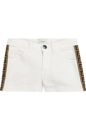 Fendi FF stretch-cotton denim shorts