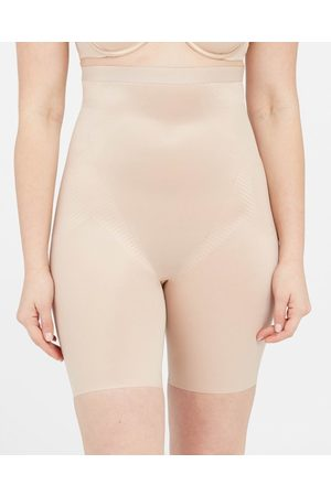 Spanx Dames Shorts - Thinstincts 2.0 High Waisted Mid Thigh Short | Soft Nude