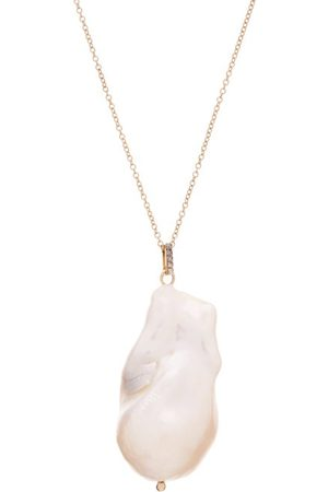 Mateo Diamond, Baroque Pearl & 14kt Gold Necklace - Womens - Pearl
