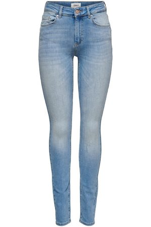 Only Onlblush Life Mid Skinny Fit Jeans Dames Blauw