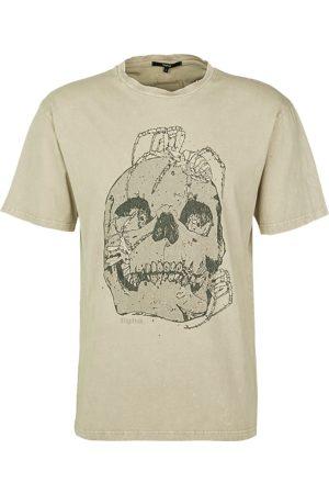 Tigha Heren afdrukbaar hemd Skull & Spiders Lessio beige (vintage sand)