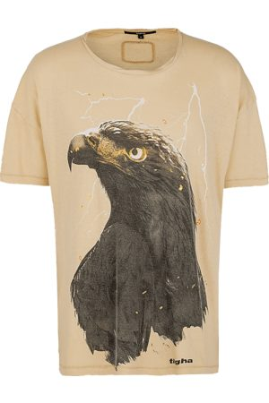 Tigha Heren afdrukbaar hemd Sky Eagle Arne beige (sand)