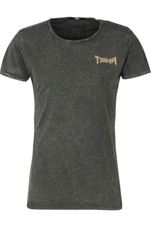 Tigha Heren afdrukbaar hemd Vintage Eagle Wren grijs (vintage stone grey)