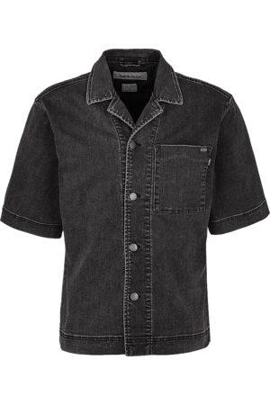 Tigha Heren Overhemd Jarmo zwart (vintage black)