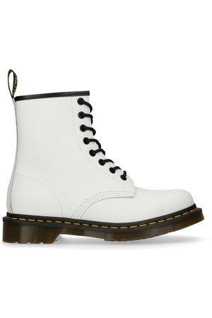 Dr. Martens Dames Cowboy & Bikerboots - 1460 White Smooth