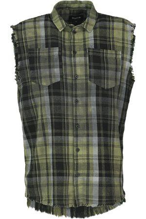 Tigha Heren Overhemd Mareno zwart (mosstone/black)