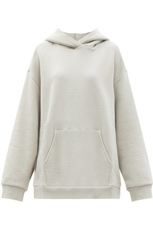 Raey Oversized Cotton-jersey Hooded Sweatshirt - Womens - Light Grey