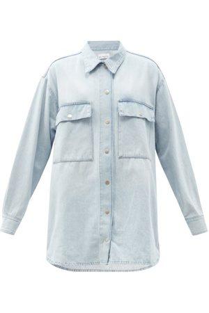 Raey Oversized Denim Shirt - Womens - Blue
