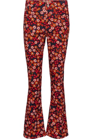 Marni Mid-rise floral jeans