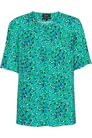 A.P.C. Isabel floral crêpe blouse