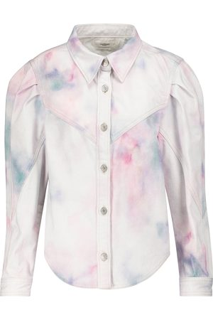 Isabel Marant Leona tie-dye denim jacket