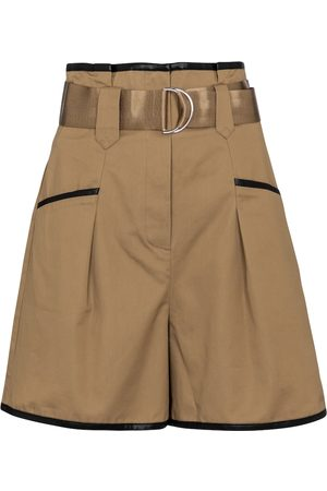 Self-Portrait High-rise belted shorts