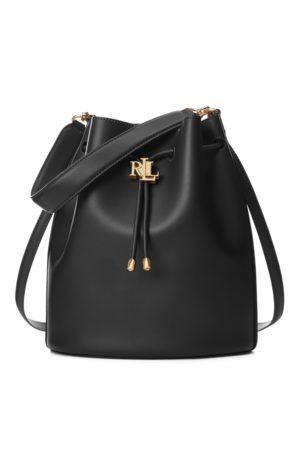 Lauren by Ralph Lauren Leather Large Andie Drawstring Bag