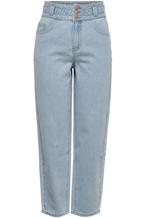 Only Jdycelia Life High Ankle Cropped Jeans Dames Blauw