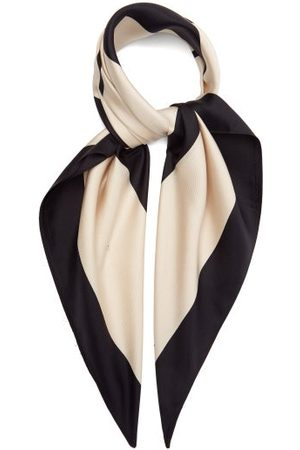 lescarf No. 22 Monogram-print Silk-twill Scarf - Womens - Multi