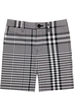Burberry Checked cotton poplin shorts