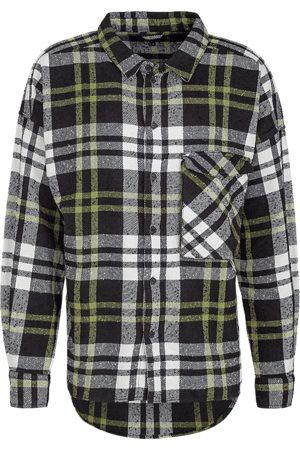 Tigha Heren Overhemden - Heren Overhemd Lando zwart (black/white/mosstone)