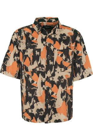 Tigha Heren Overhemd Janez meerkleurig (marbled camo)