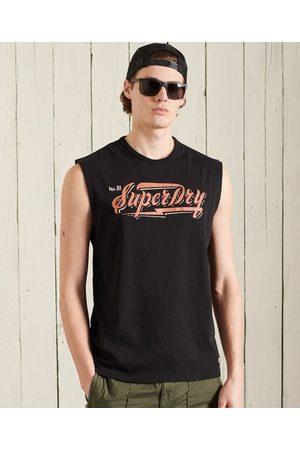 Superdry Heren Shirts - Boho hemdtopje met afgeknipte mouwen en afbeelding