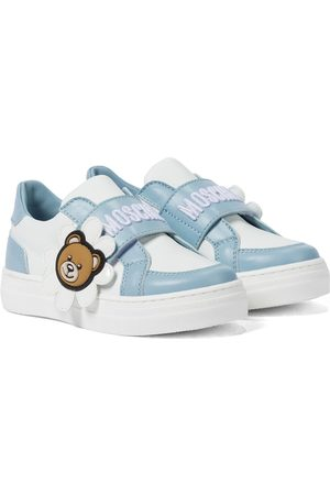 Moschino Logo leather sneakers