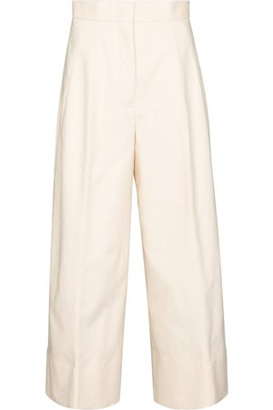 Jil Sander Wide-leg cotton gabardine pants