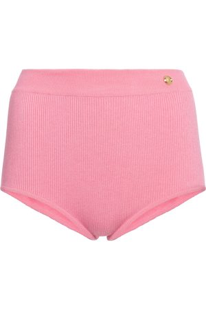 Balmain High-rise knit shorts