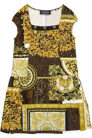 VERSACE Barocco Patchwork stretch-cotton dress