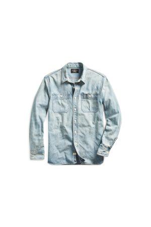 RRL Heren Shirts - Indigo Denim Workshirt