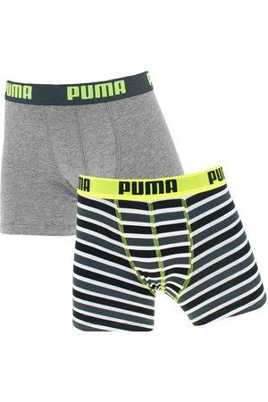 PUMA Boxershorts jongens 2-pack printed stripes zwart && wit