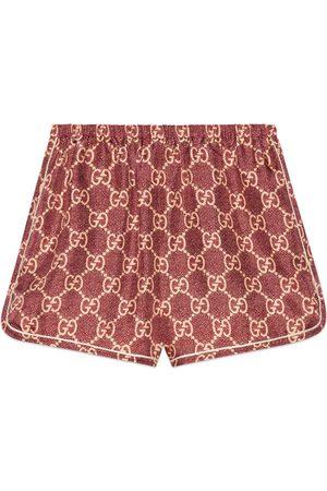 Gucci GG Supreme print silk shorts