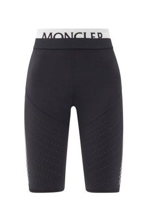 Moncler Dames Korte broeken - Logo-jacquard Jersey Cycling Shorts - Womens - Black