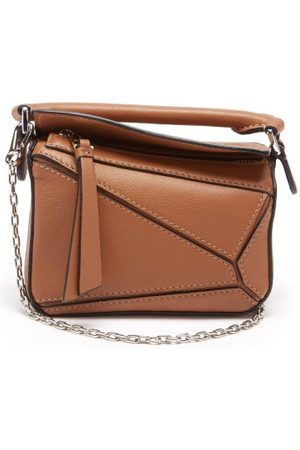 Loewe Dames Schoudertassen - Puzzle Nano Leather Cross-body Bag - Womens - Tan