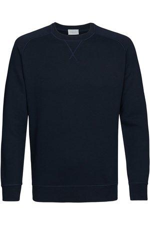 Profuomo Heren Sweaters - Heren navy ronde hals sweater