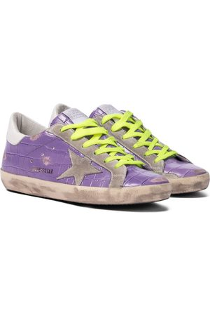 Golden Goose Superstar croc-effect leather sneakers